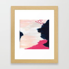 In the Sand Abstract Framed Art Print