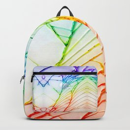 Rainbow Broken Damaged Cracked out back White iphone Backpack