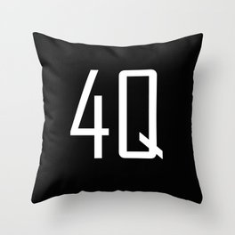 4Q - Fuck You - Chat Shorthand - Fun Acronyms - Typography Sarcasm Throw Pillow