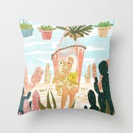 Desert Home Throw Pillow