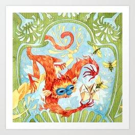 Monkey Games Art Print