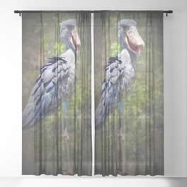 Balaeniceps Rex Sheer Curtain