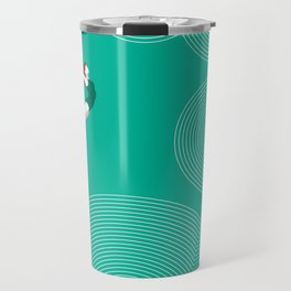 diver girl jumping into the clouds Travel Mug