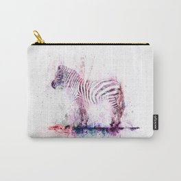 Watercolor Wash Zebra Carry-All Pouch