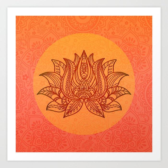 Lotus Flower of Life Meditation  Art Kunstdrucke