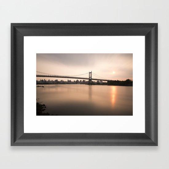 Triborough Bridge (NYC) at Sunset Framed Art Print