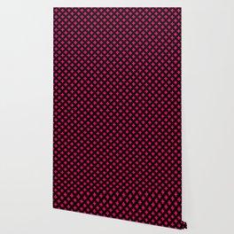 Hot Neon Pink Crosses on Black Wallpaper