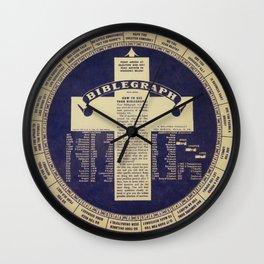 The Biblegraph Wall Clock