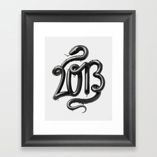 2013 - Year of the Black Water Snake Framed Art Print