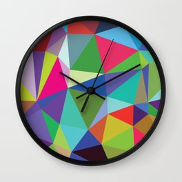 Abstract triangle mosaic background Wall Clock