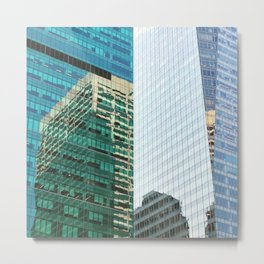 New York Architecture Reflection Metal Print