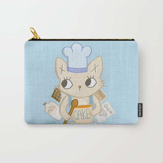 Cat is baking a Cake Carry-All Pouch
