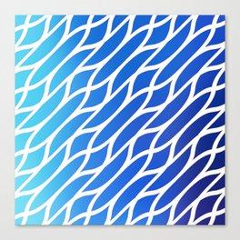 Blue Diagonal Pattern Canvas Print