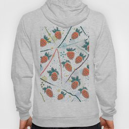 Seamless Pattern With Hand Drawn Strawberries Hoody