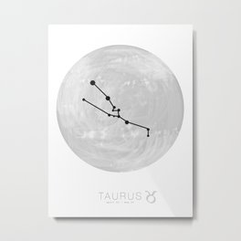 Moon Astrology - Zodiac Taurus Metal Print