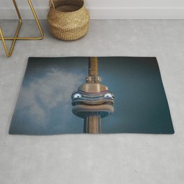 The smiling CN Tower Rug