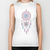dream catcher Biker Tanks featuring Dream Catcher by haleyivers