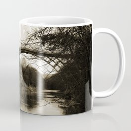 Worlds First Ironbridge over River Severn in England in sepia Coffee Mug