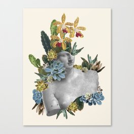 Cactus Statue Canvas Print