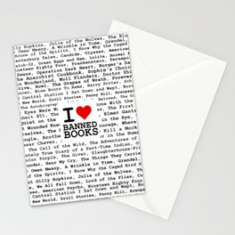 I Heart Banned Books Stationery Cards