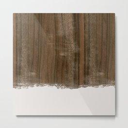 Dipped Wood - Australian Walnut Metal Print