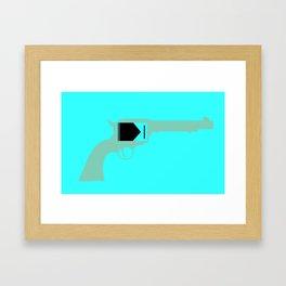 Guns Don't Kill People Framed Art Print