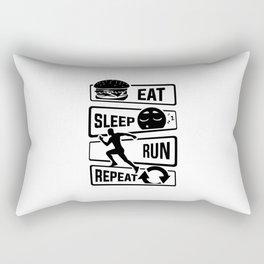 Eat Sleep Run Repeat - Running Runner Fitness Rectangular Pillow