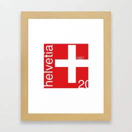 Switzerland stamp  Framed Art Print