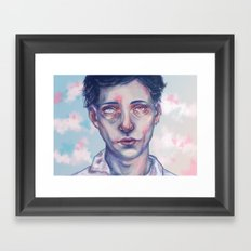 My head's in the clouds Framed Art Print