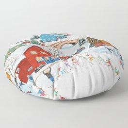 Snow Family Floor Pillow