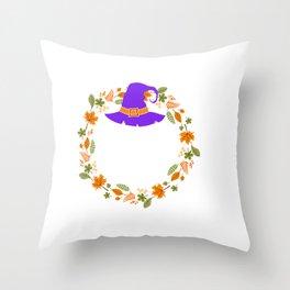 Basic Fall Witch Autumn Halloween Throw Pillow
