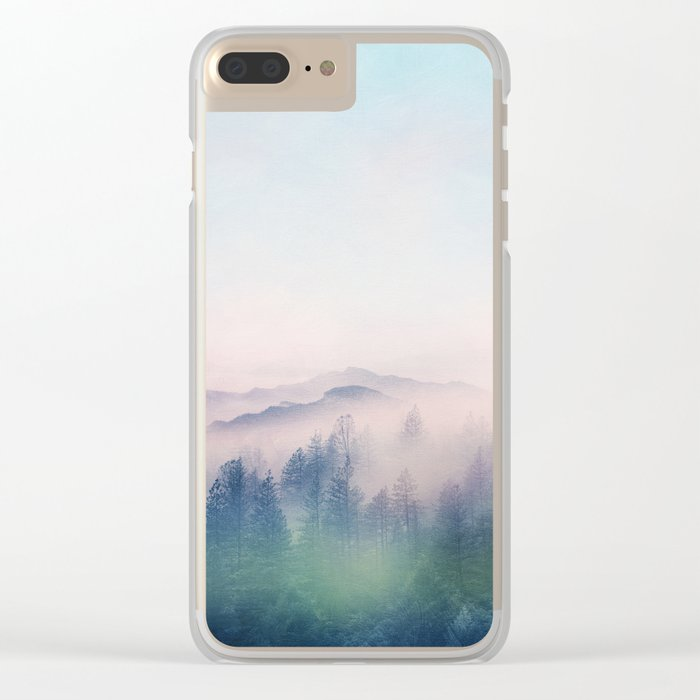 Pastel vibes 62 Clear iPhone Case