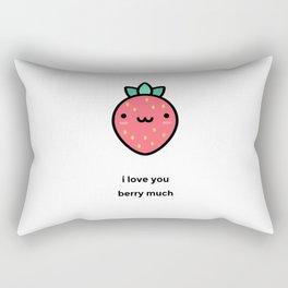 JUST A PUNNY STRAWBERRY JOKE! Rectangular Pillow