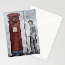 Boy With A Letterbox Stationery Cards