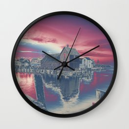 Motif #1 color explosion Wall Clock
