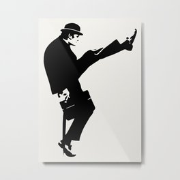 The Ministry of Silly Walks Artwork for Wall Art, Prints, Posters, Tshirts, Men, Women, Kids Metal Print