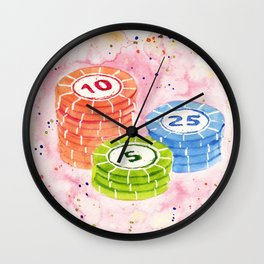 Candy Poker Wall Clock