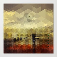 Drone Birds in a Western Camp Canvas Print