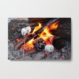 Roasting Marshmellows Metal Print