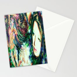 NUDE BELLY DANCER WITH LADY KASHMIR ART PRINT PHOTOGRAPHY PAINTING  Stationery Cards