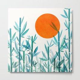 Zen Garden Sunset Metal Print
