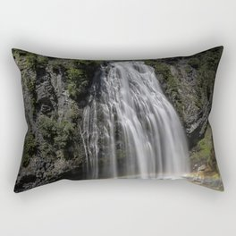 Narada Falls with a Rainbow Rectangular Pillow