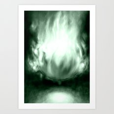 Oz as a Fire Ball Art Print