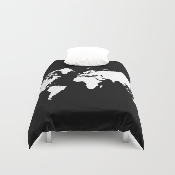 Black white world map duvet cover by haroulita society6 gumiabroncs Gallery