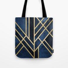 Art Deco Midnight Tote Bag