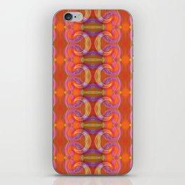 Vibrant pink and orange spirals iPhone Skin