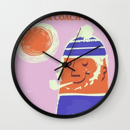 Cornwall vintage travel poster Wall Clock