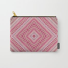 Ethnic ornament, tribal, square meters, geometric pattern Carry-All Pouch