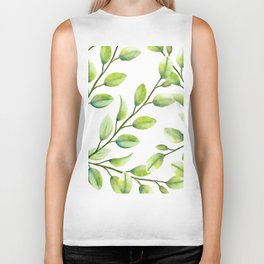 Branches and Leaves Biker Tank