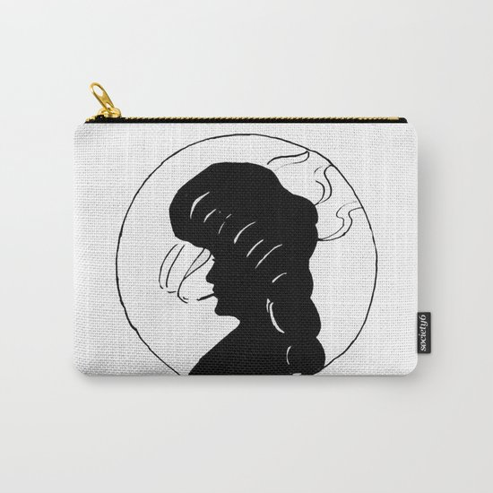 Lady smoking. Carry-All Pouch